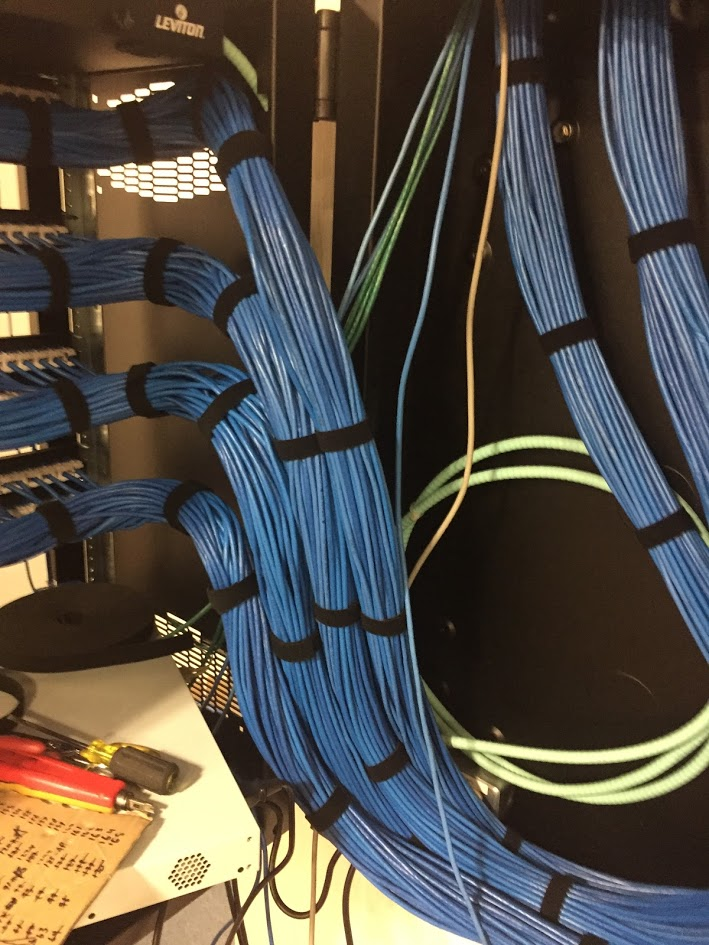 Terminated Cable On Patch Panel